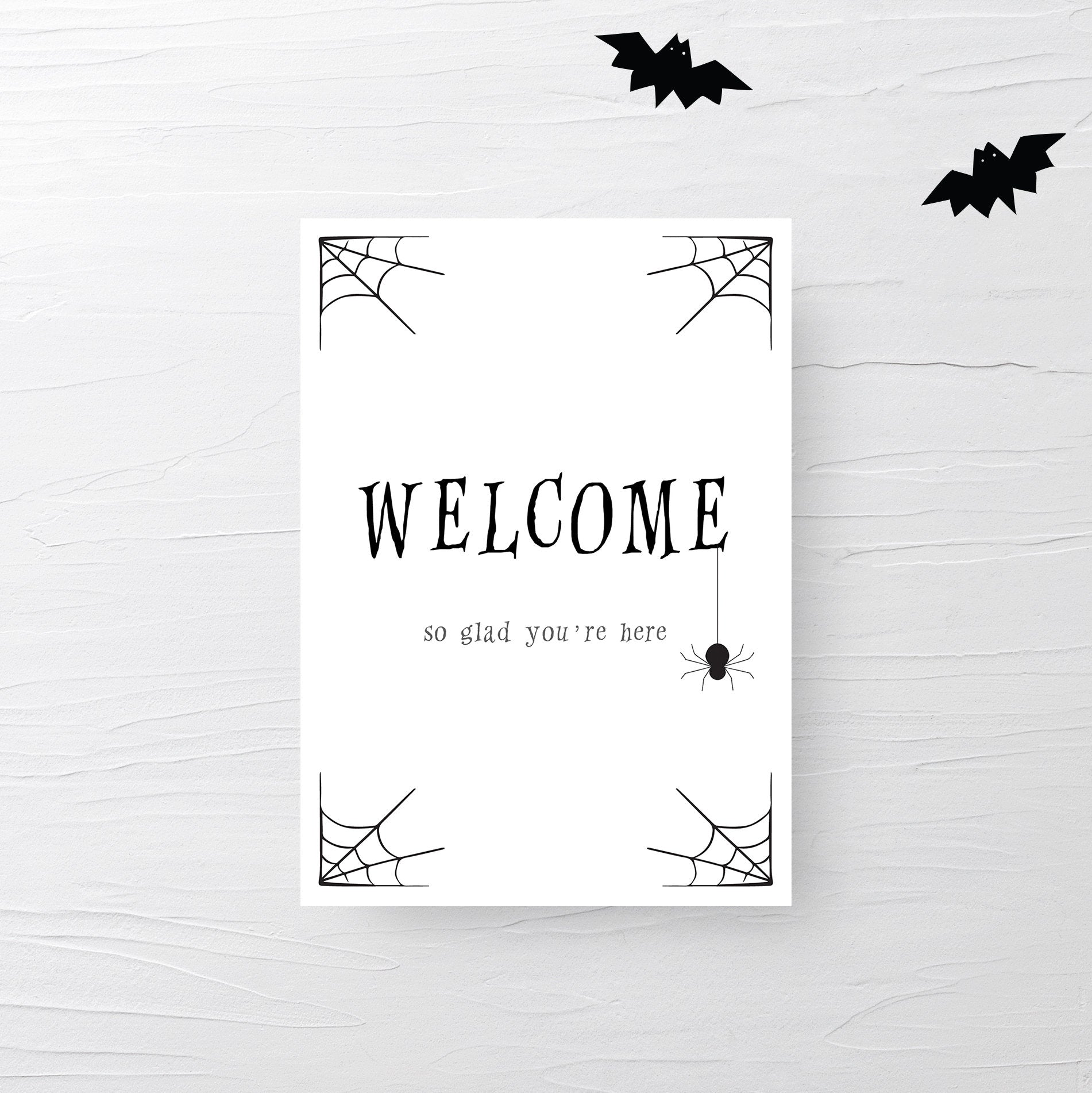 Halloween Welcome Sign Printable, Halloween Decor Porch Sign, Halloween Party Welcome Sign, INSTANT DOWNLOAD, Halloween Party Decor - EDS100