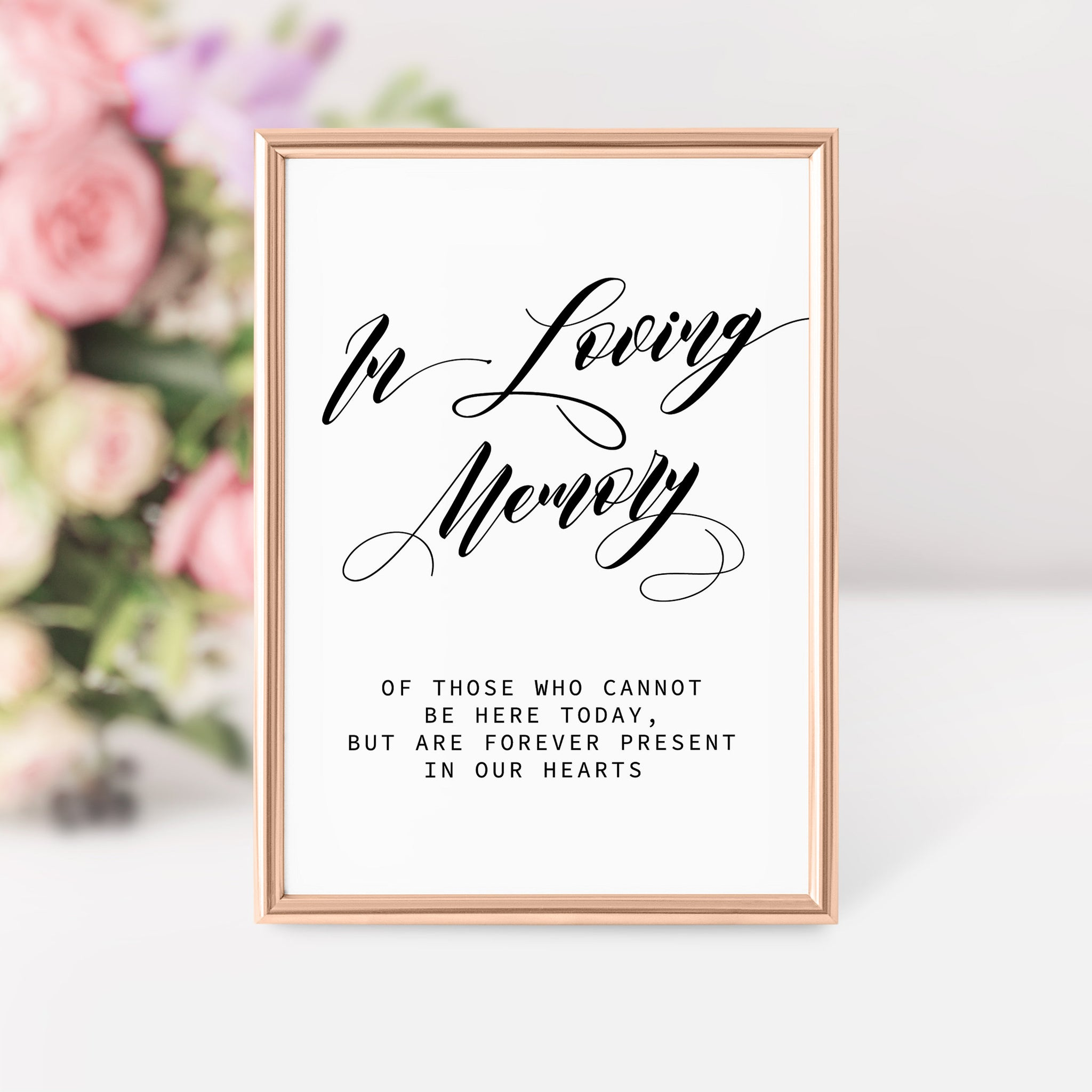 Wedding Memorial Sign, In Loving Memory Wedding Sign Printable, Memorial Table Sign, Remembrance Sign Wedding, INSTANT DOWNLOAD - SFB100 - @PlumPolkaDot