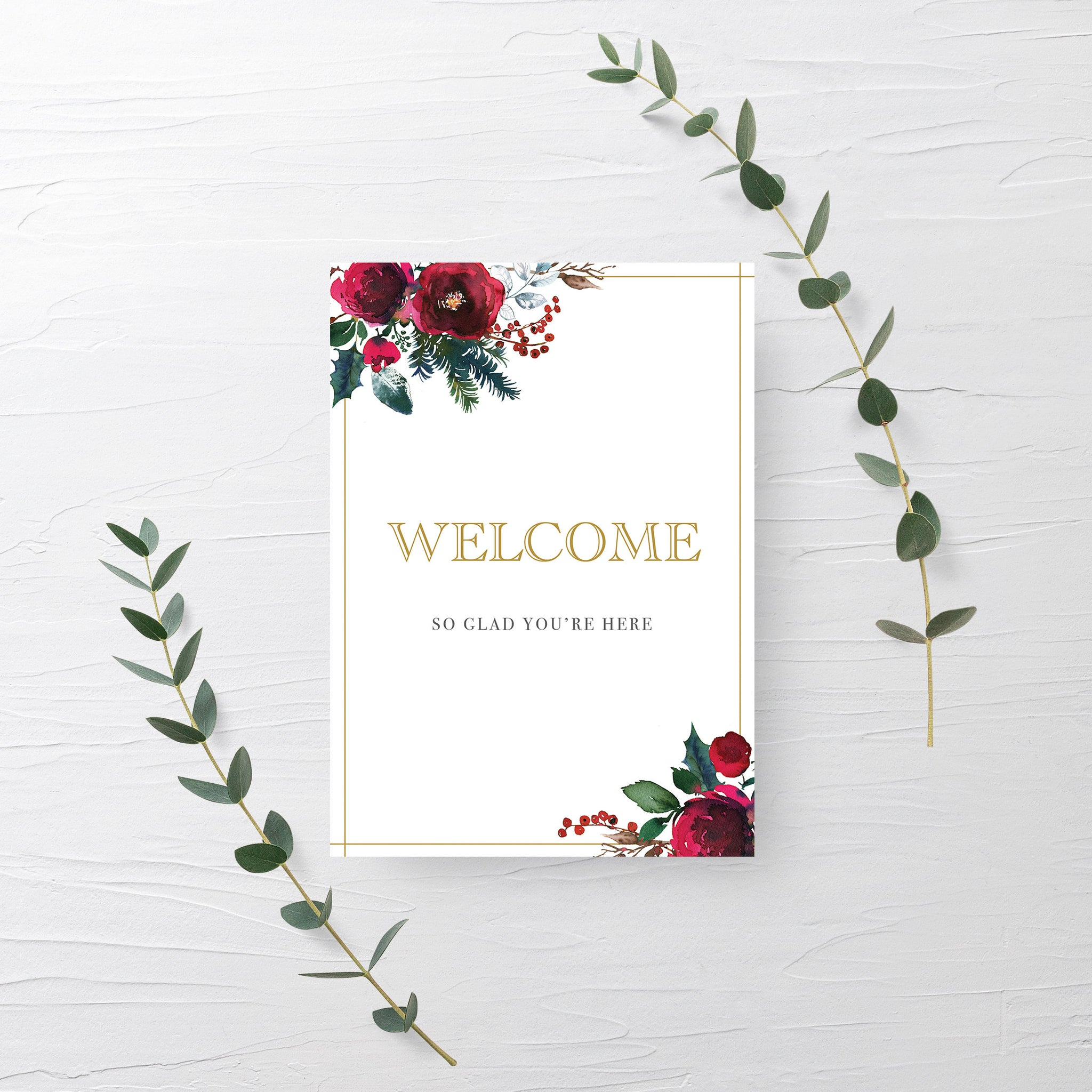 Christmas Party Welcome Sign, Holiday Party Decor, Christmas Baby Shower Decorations, Bridal Shower Printable, INSTANT DOWNLOAD - CG100 - @PlumPolkaDot