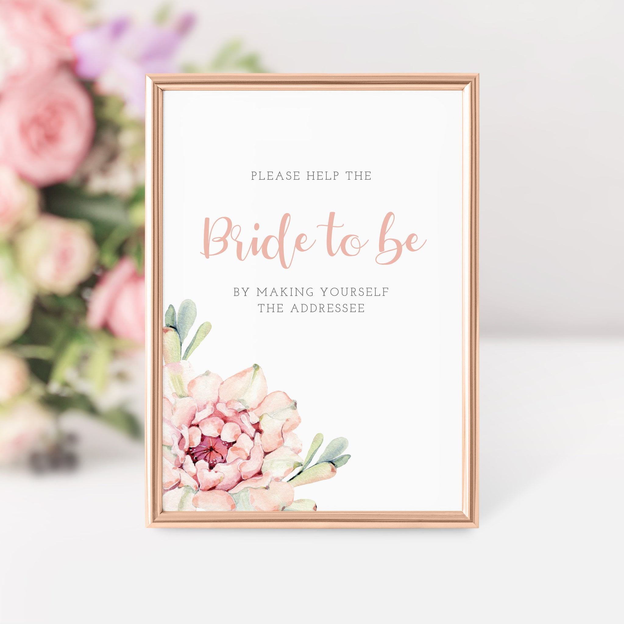 Succulent Bridal Shower Address an Envelope Sign Printable, Cactus Bridal Shower Table Signs, DIGITAL DOWNLOAD - CS100 - @PlumPolkaDot