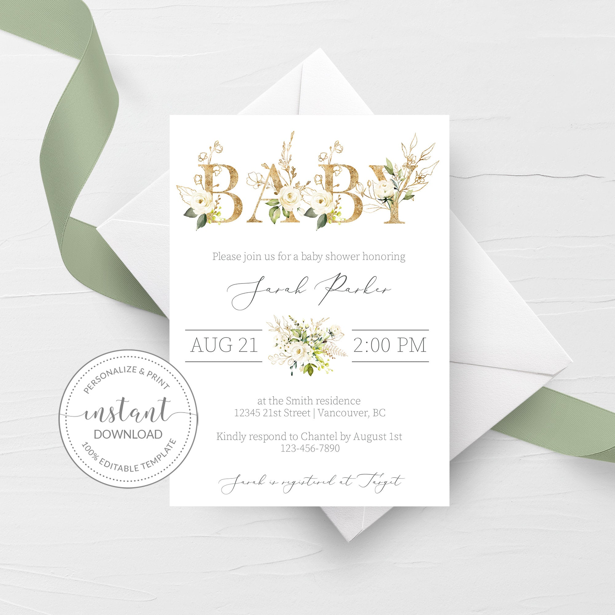 It's just a picture of Printable Baby Shower Invitation Template with regard to digital