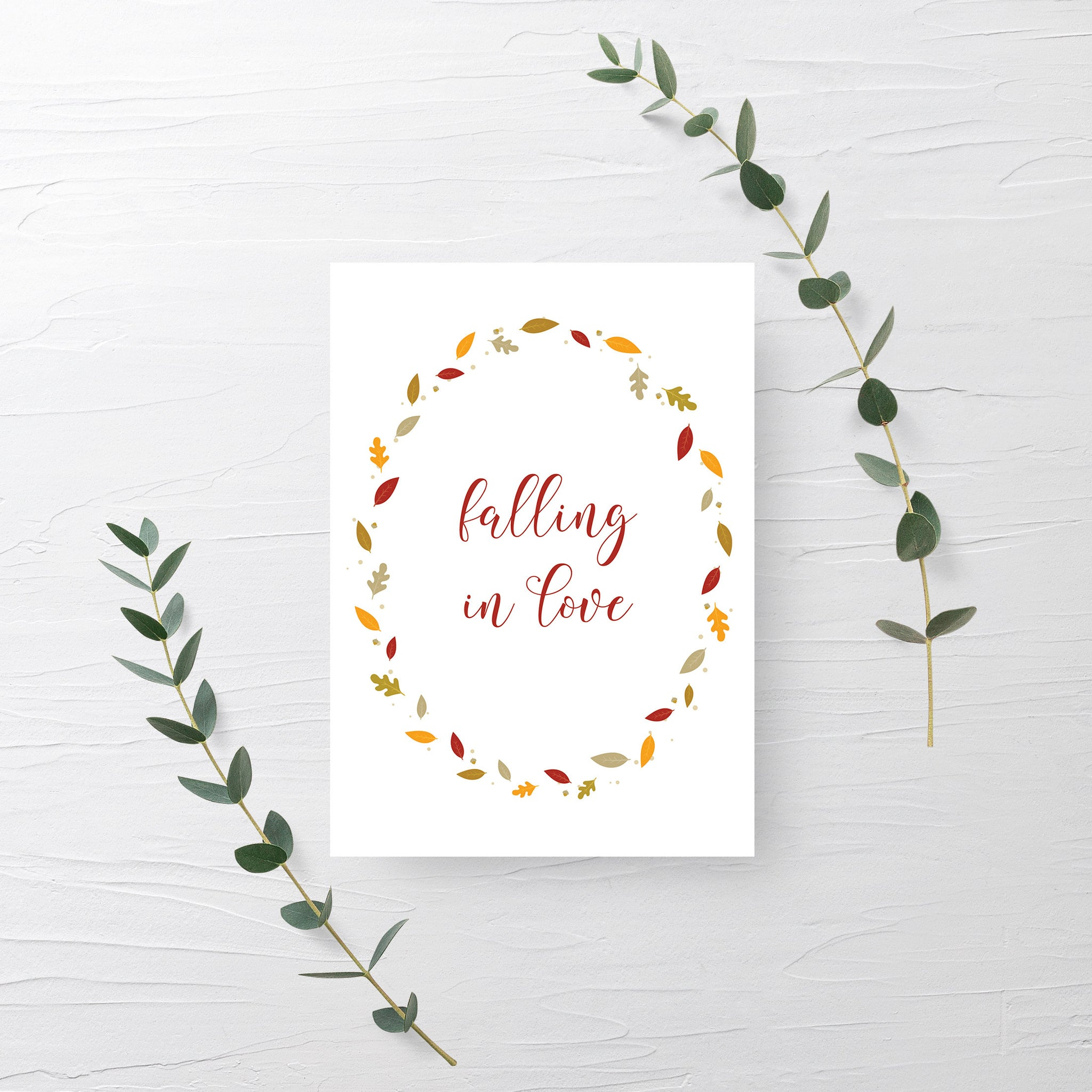 Falling in Love Sign, Wedding Fall Decor, Falling In Love Bridal Shower Sign, Fall in Love Sign, INSTANT DOWNLOAD - FL100