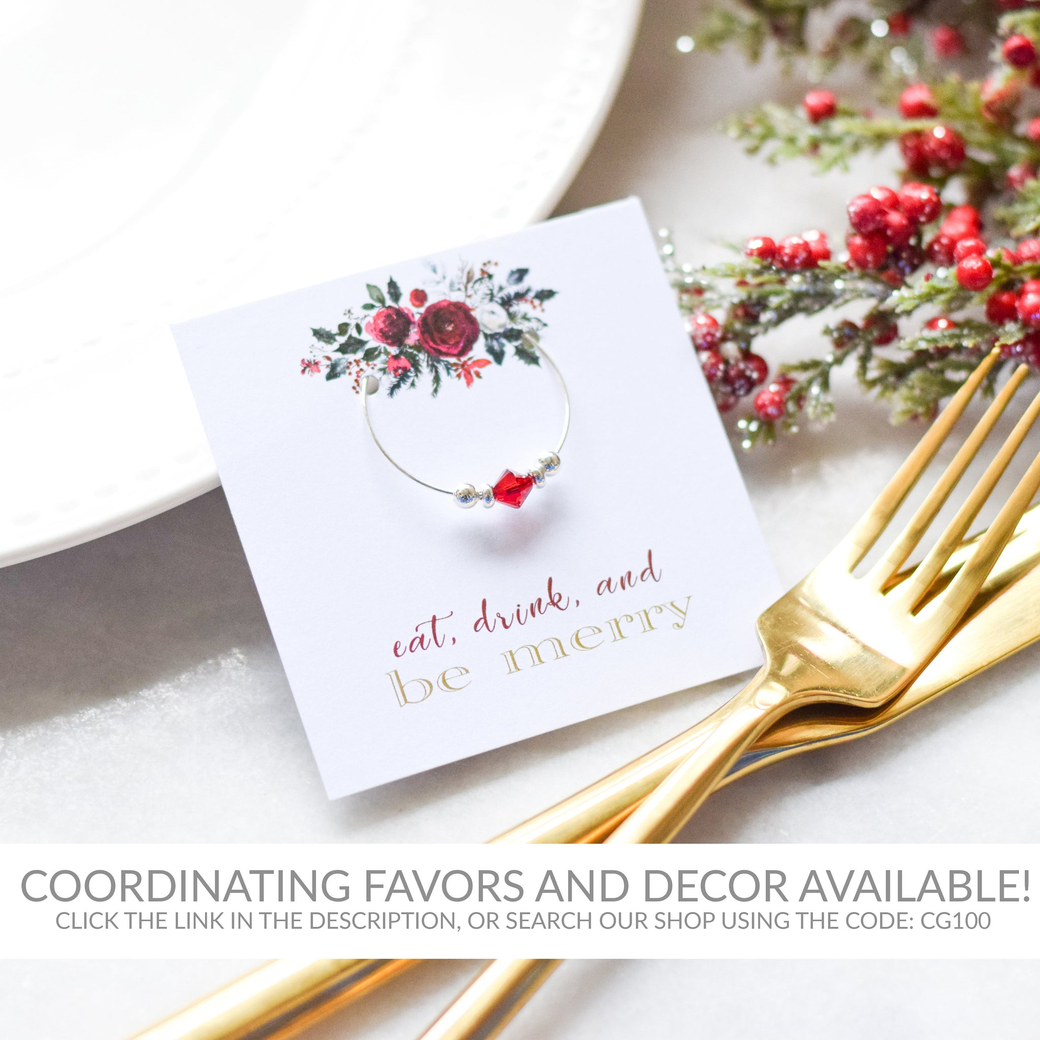 Christmas Wedding Table Numbers 1-50, Holiday Table Number Cards, Winter Wedding Table Numbers 4x6 and 5x7, Printable DOWNLOAD - CG100 - @PlumPolkaDot