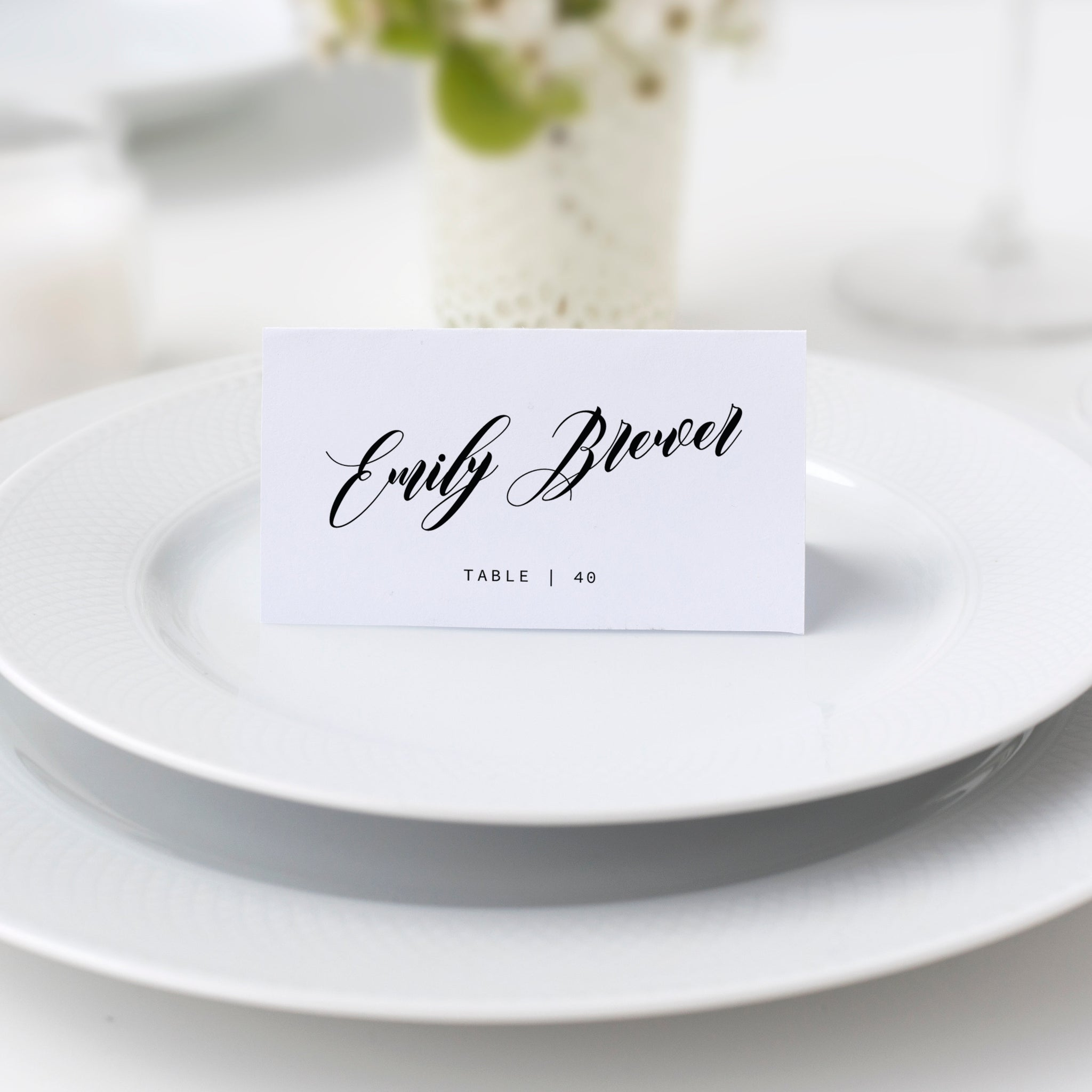 This is a photo of Printable Wedding Place Cards intended for seating arrangement