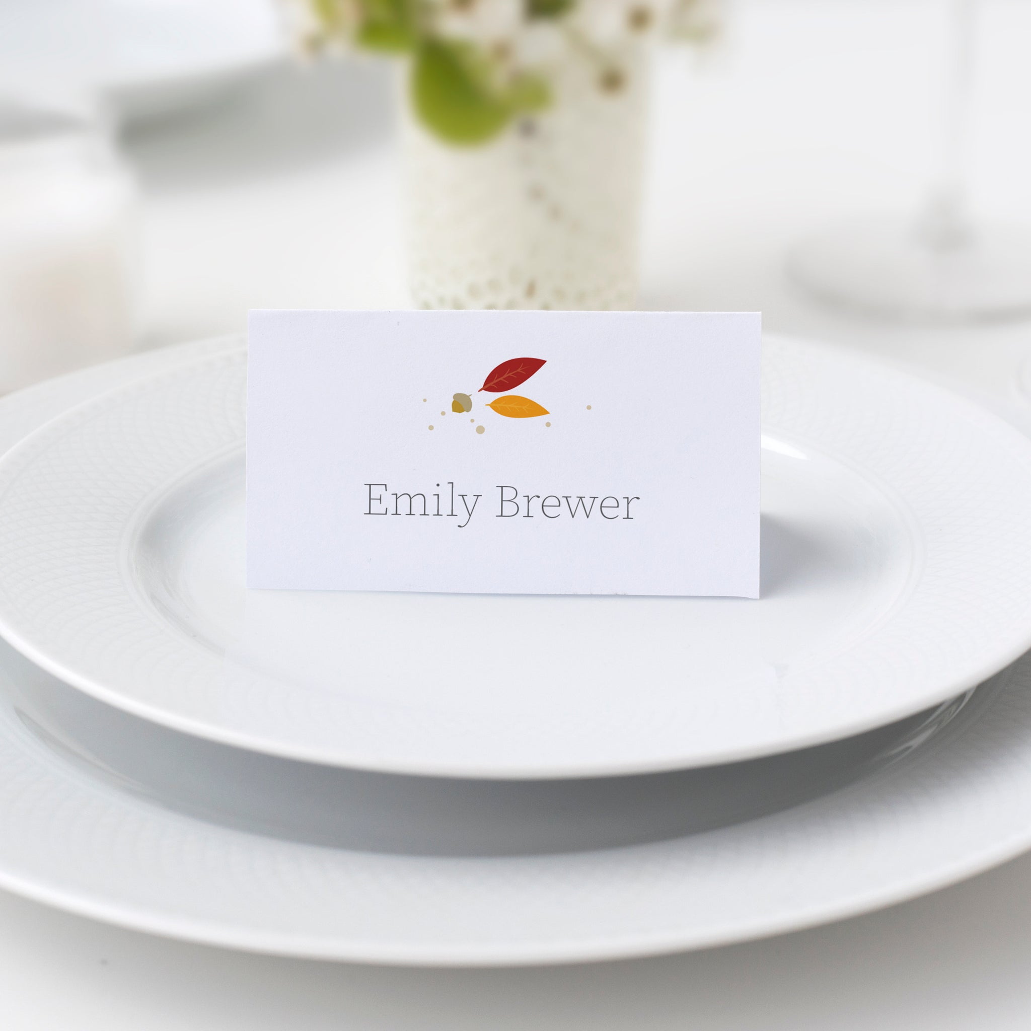Thanksgiving Place Card Template, Thanksgiving Table Decor, Thanksgiving Dinner Decor, Thanksgiving Decorations, DIGITAL DOWNLOAD - FL100 - @PlumPolkaDot