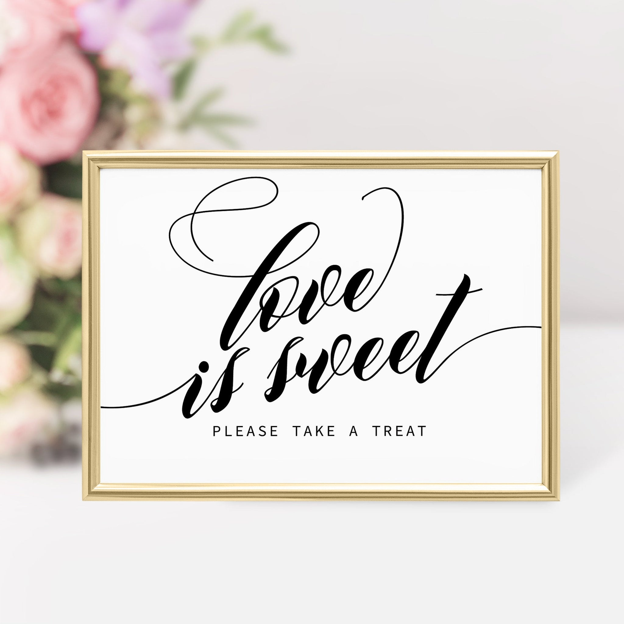 Love is Sweet Sign, Wedding Sign Love Is Sweet, Bridal Shower Love Is Sweet Printable, DIGITAL DOWNLOAD - SFB100