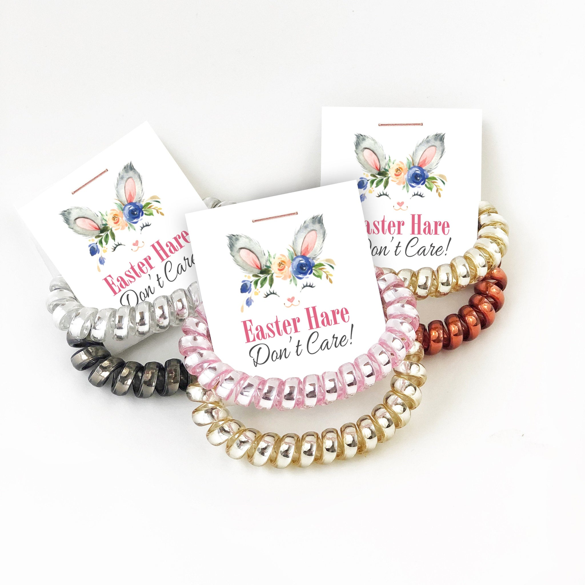 Easter Basket Stuffers, Spiral Hair Ties - B100 - @PlumPolkaDot