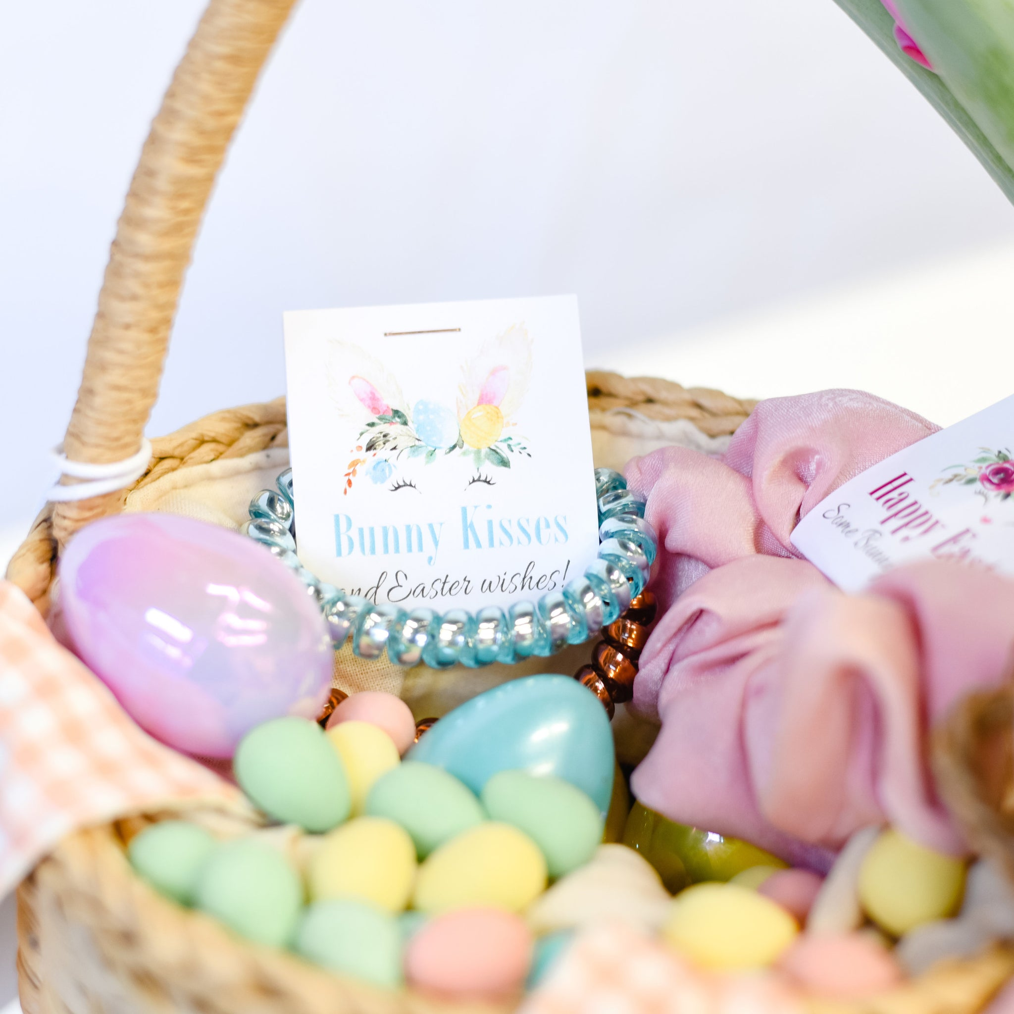 Easter Basket Stuffers, Spiral Hair Ties, Easter Gift Ideas - @PlumPolkaDot