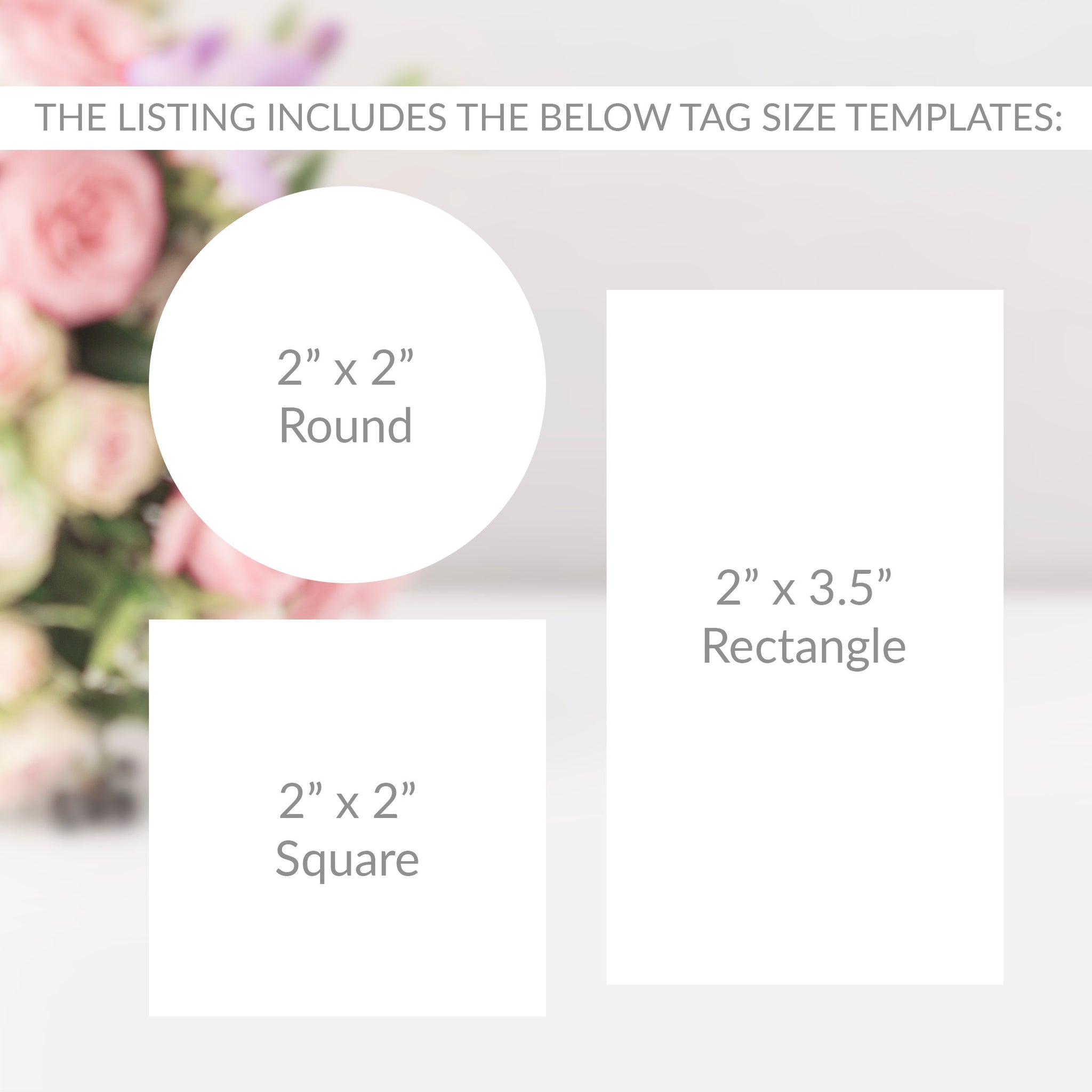 Greenery Wedding Favor Tags Printable Template, Greenery Favor Tags, Round Square or Rectangle, Editable DIGITAL DOWNLOAD - GFG100
