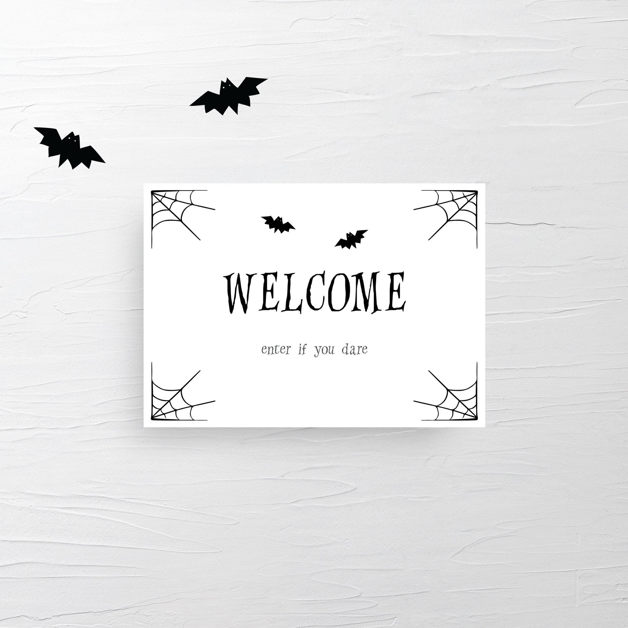 Large Halloween Welcome Sign Printable, Editable Halloween Printable Sign, Halloween Decor, Halloween Party Sign, DIGITAL DOWNLOAD - EDS100