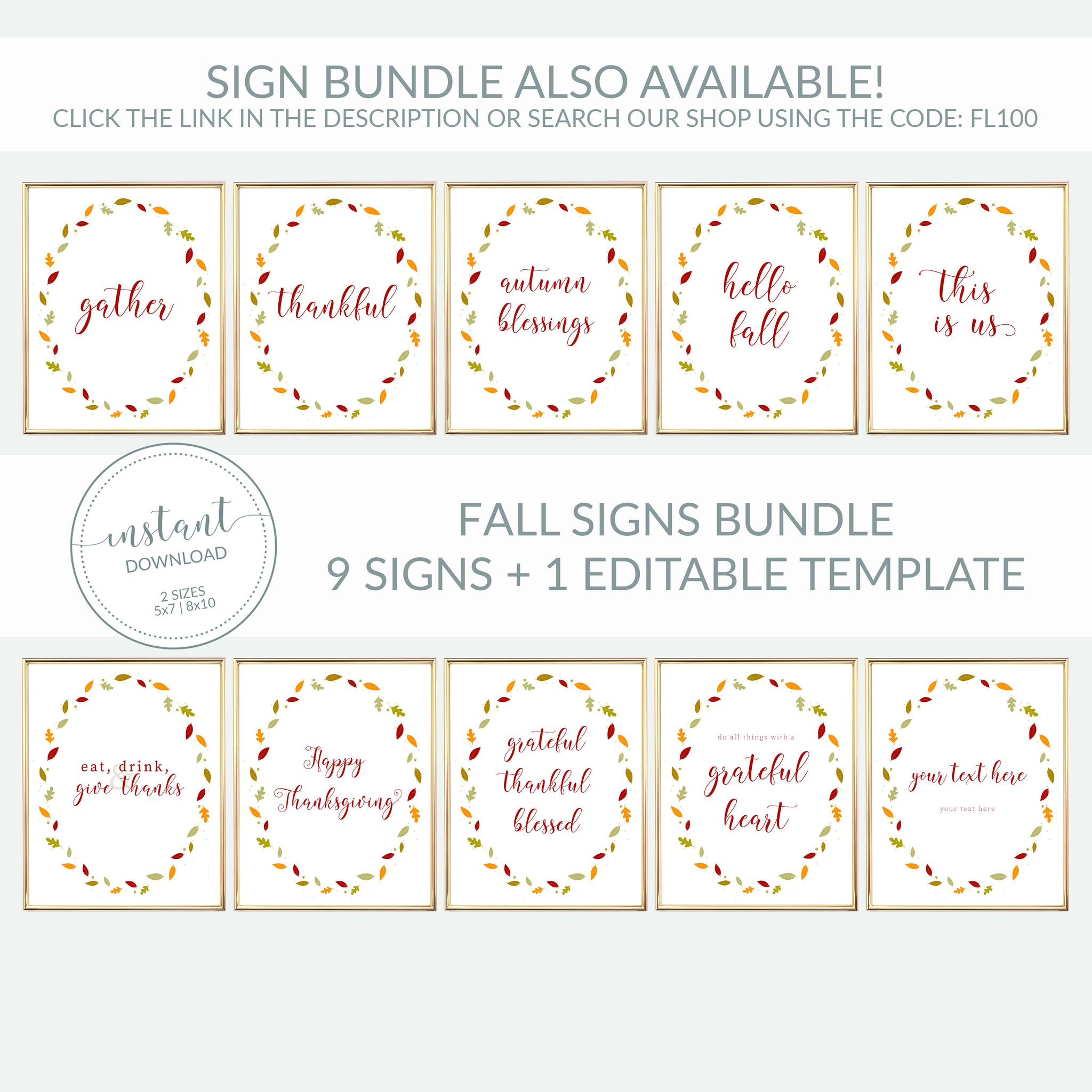 Thanksgiving Gift Tag Printable, Personalized Thanksgiving Favors Tag Template, Thankful For You, Editable DIGITAL DOWNLOAD FL100