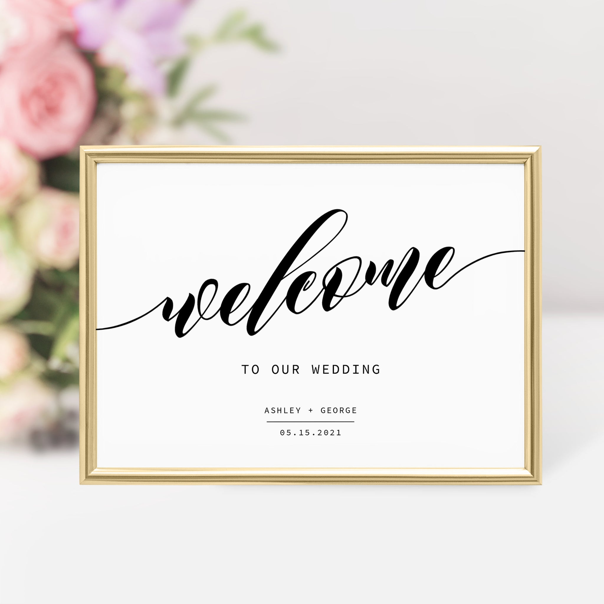 Wedding Welcome Sign Template, Large Welcome Sign Printable, Winter Wedding Welcome Sign, Modern Wedding Signs, DIGITAL DOWNLOAD - SFB100