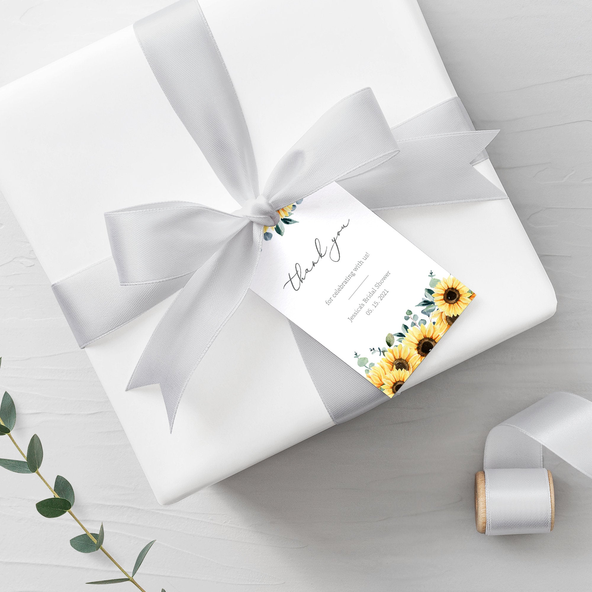 Sunflower Bridal Shower Favor Tags, Sunflower Favor Tags Printable Template, Wedding Shower, Round Square, Editable DIGITAL DOWNLOAD S100