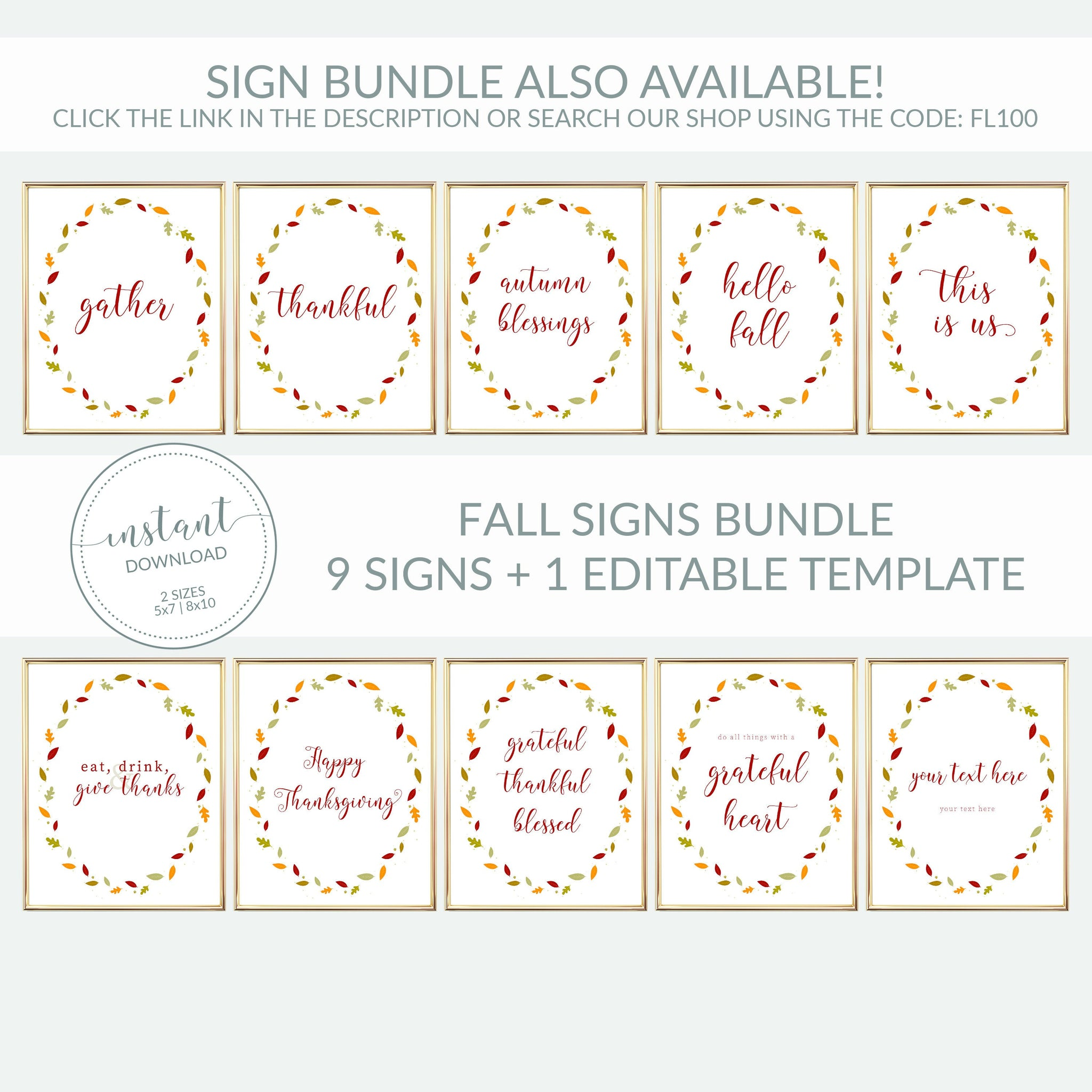 Friendsgiving Gift Tag Printable, Personalized Friendsgiving Favors Tag Template, Thankful For You, Editable DIGITAL DOWNLOAD FL100