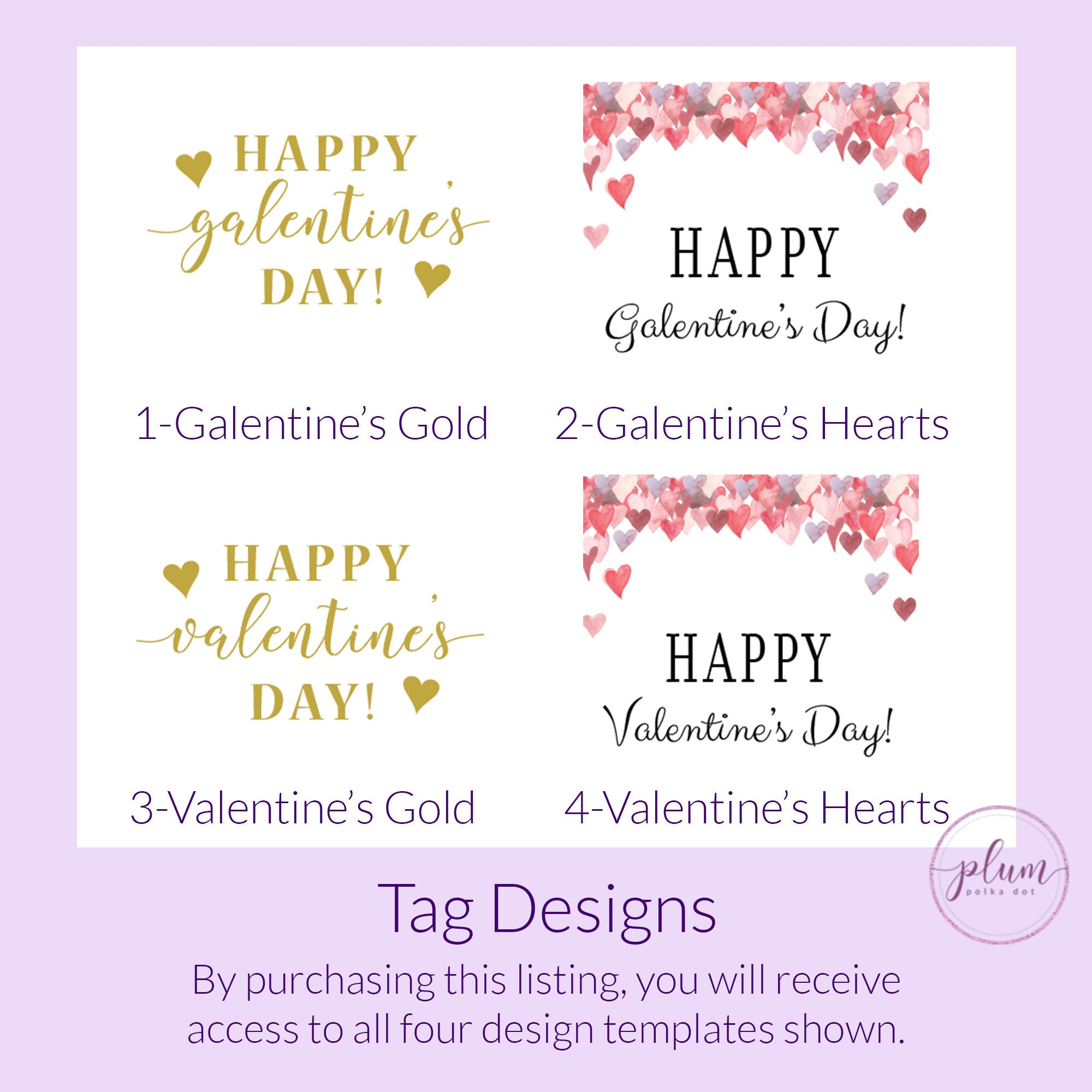 Printable Valentine Cards for Hair Scrunchies, Personalized Valentine's Day Tag Template, Valentine's Printable, DIGITAL DOWNLOAD - V100