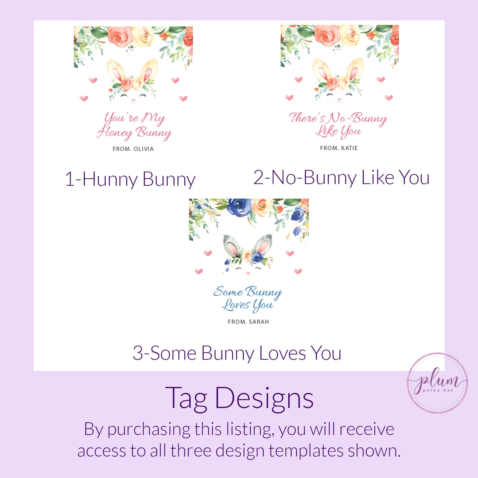 Printable Bunny Valentine Card Template for Hair Scrunchies, Personalized Bunny Rabbit Valentine Scrunchie Tag, DIGITAL DOWNLOAD B100