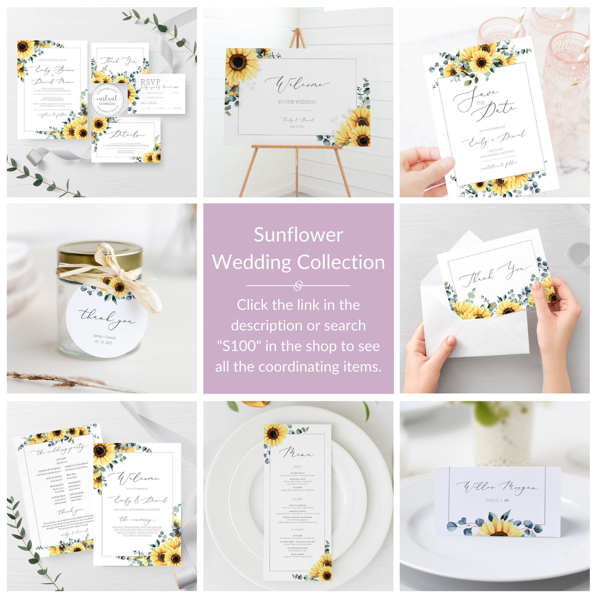 Sunflower and Pumpkin Thank you Card PRINTABLE Thank you Sunflower Thank you Card Template Digital Download Fall Thank you Card 0297