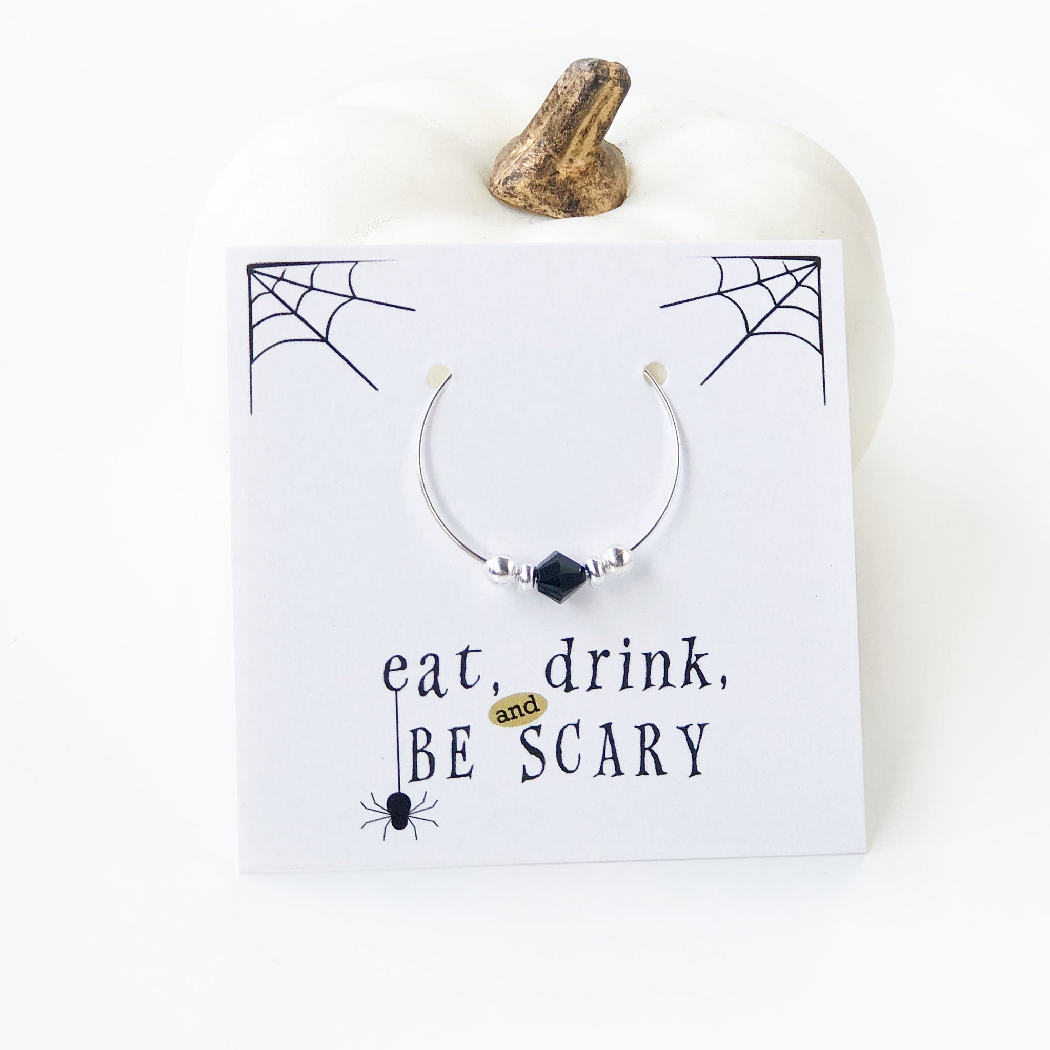 Halloween Party Favors - Stemware Charms - @PlumPolkaDot