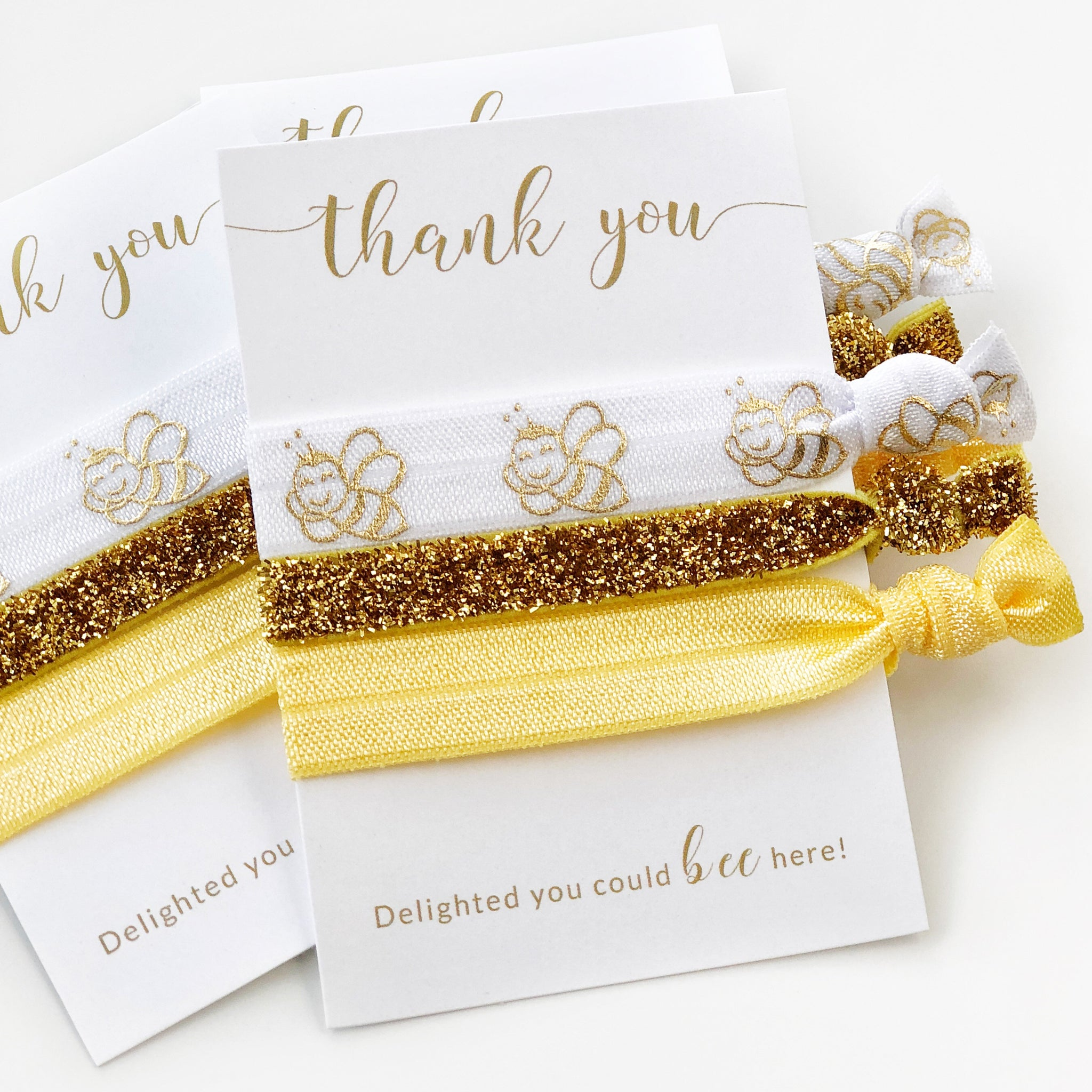 Bee Party Favors - Hair Ties - @PlumPolkaDot