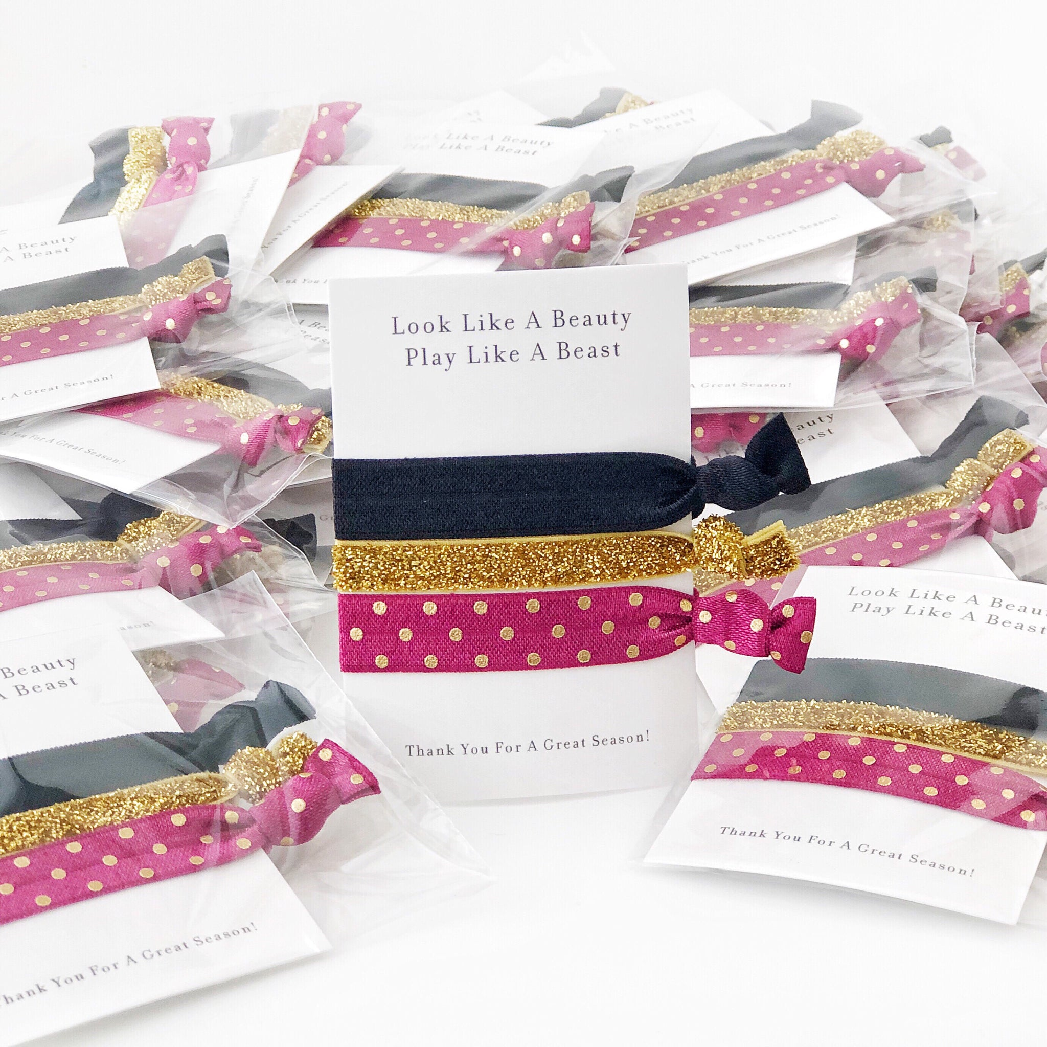 Sports Team Gift - End of Season Party Favor - Hair Ties - @PlumPolkaDot