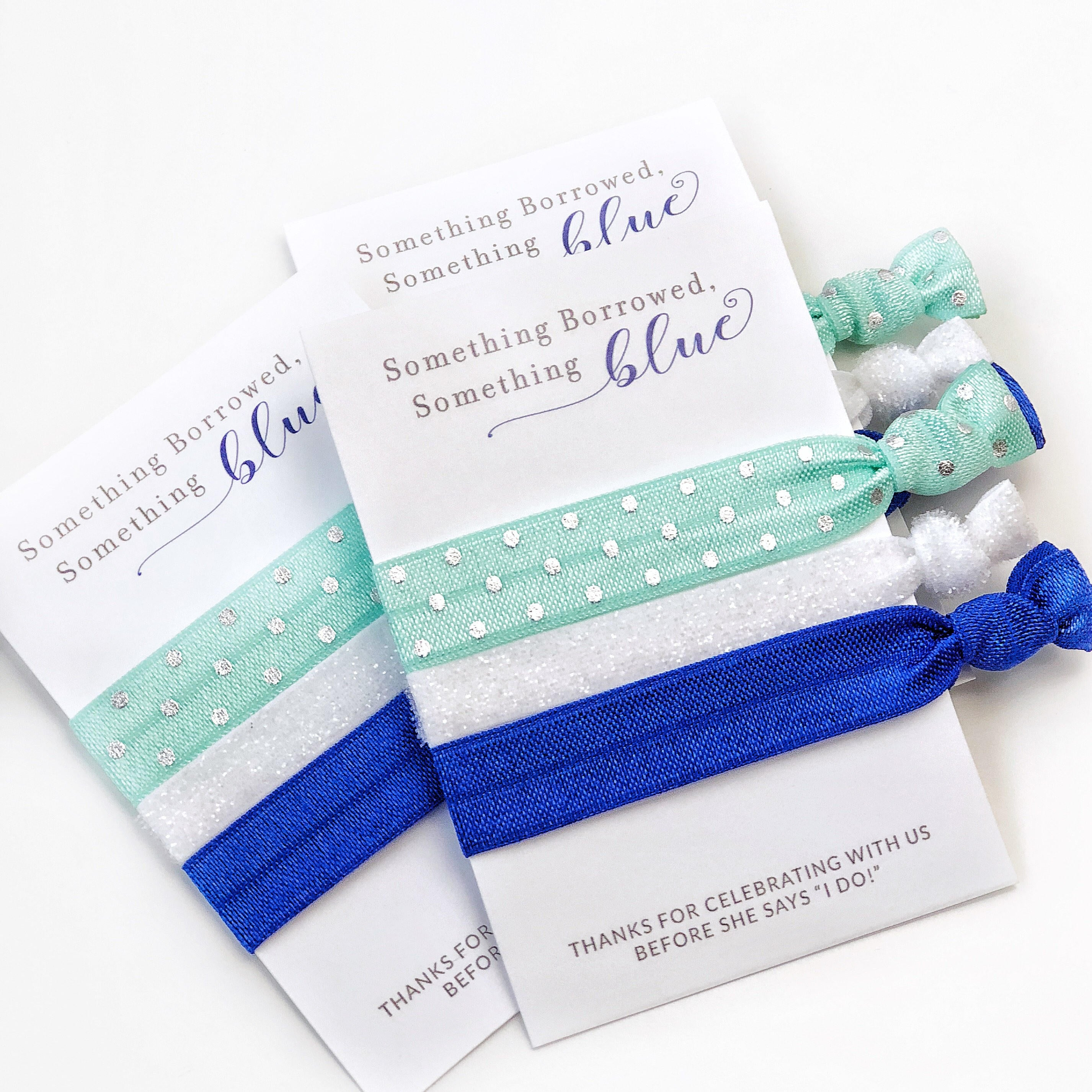 something blue bridal shower and bachelorette party favors small gifts plumpolkadot