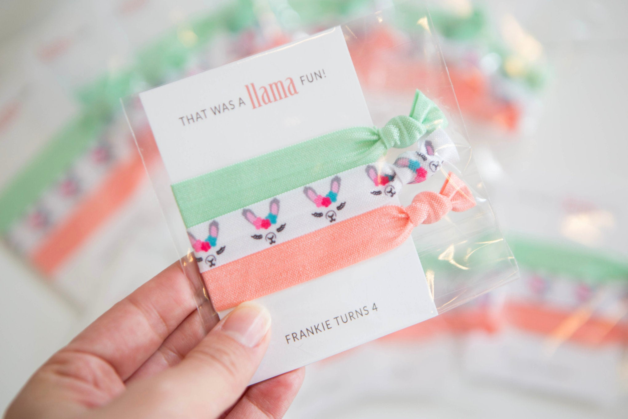 Llama Party Favors - Mint and Coral - Llama Party Supplies ...