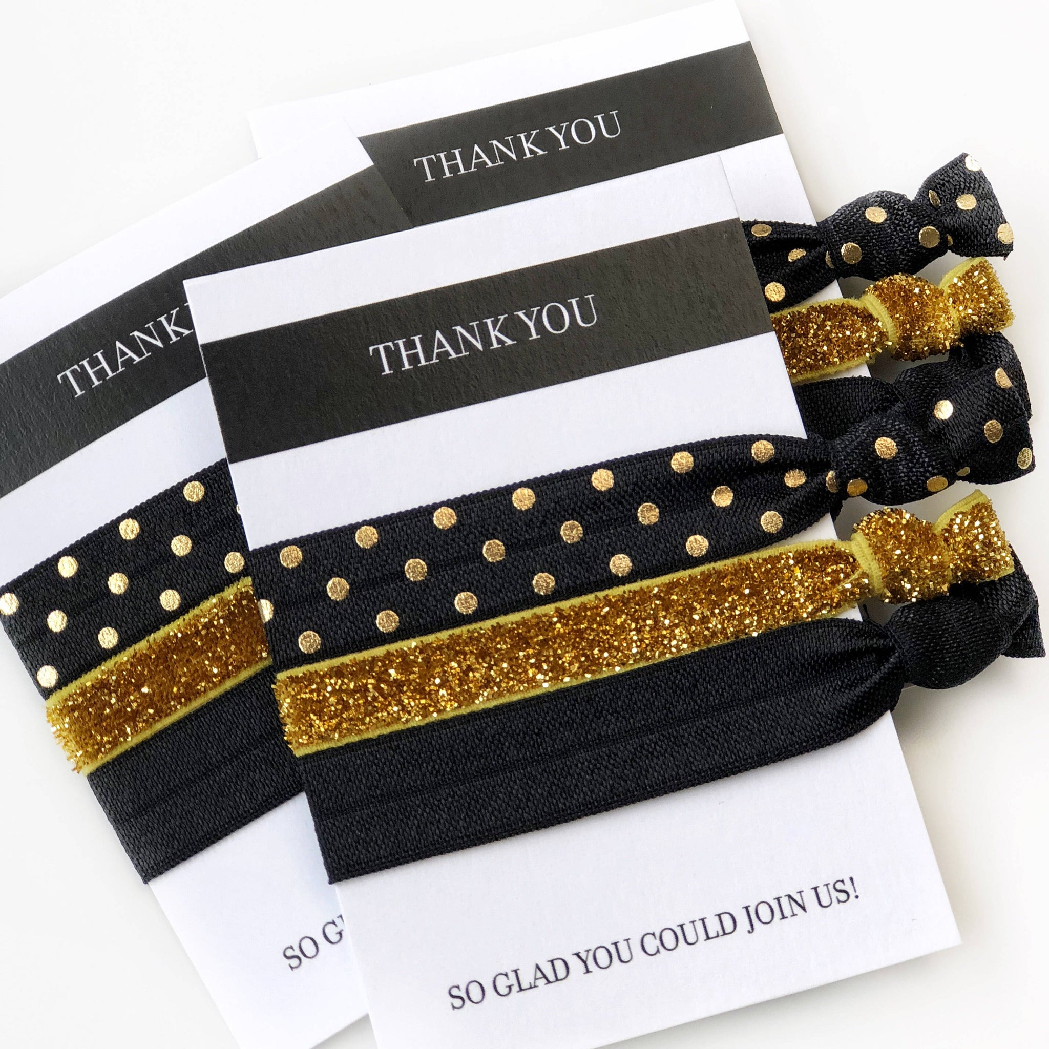 Black and Gold Party Favors - Party Favor Ideas for Adults - @PlumPolkaDot