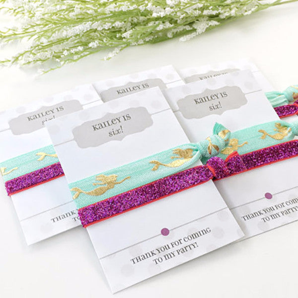 Mermaid Birthday Party Favors - @PlumPolkaDot