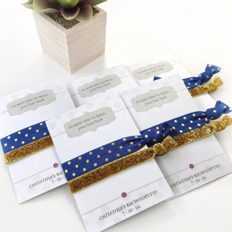 Polka Dots & Gold Glitter Hair Tie Favors - Hair Accessories for Any Occasion - @PlumPolkaDot