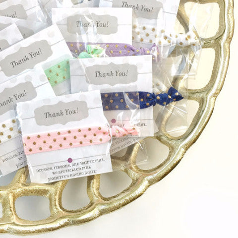 Polka Dot Hair Tie Party Favors - Hair Accessories for Any Occasion - @PlumPolkaDot