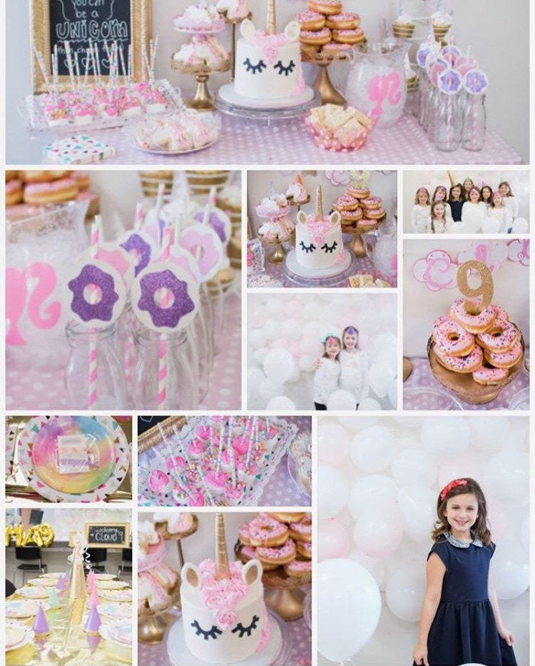 Donut Birthday Party Favors - Unicorn Party Favors - @PlumPolkaDot