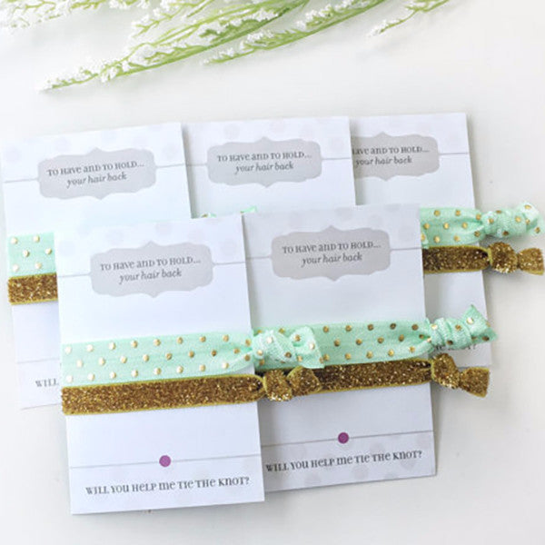 ... Will You Help Me Tie The Knot - Bridesmaid Proposal Hair Ties -   PlumPolkaDot ... a542c11e35c