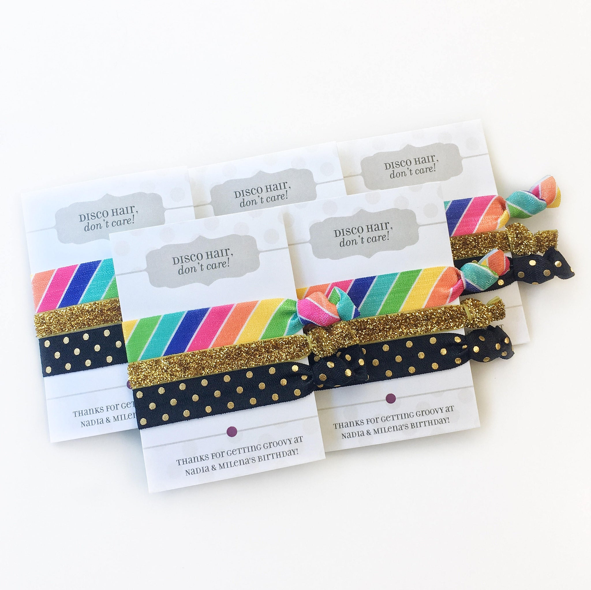 Rainbow Disco Party Favors - Unique Party Favor Ideas - @PlumPolkaDot