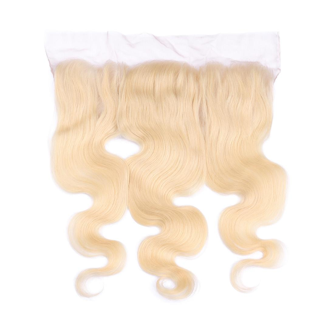 613 Blonde Body Wave Lace Frontal- Frequency Hair (Store Stock) - Rich Connections, Extensions, Bundles, Frontals, Closures