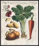 French Vegetable Collage No.3 - Botanical Print