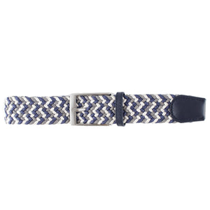Blue, White, & Charcoal Elastic Belt