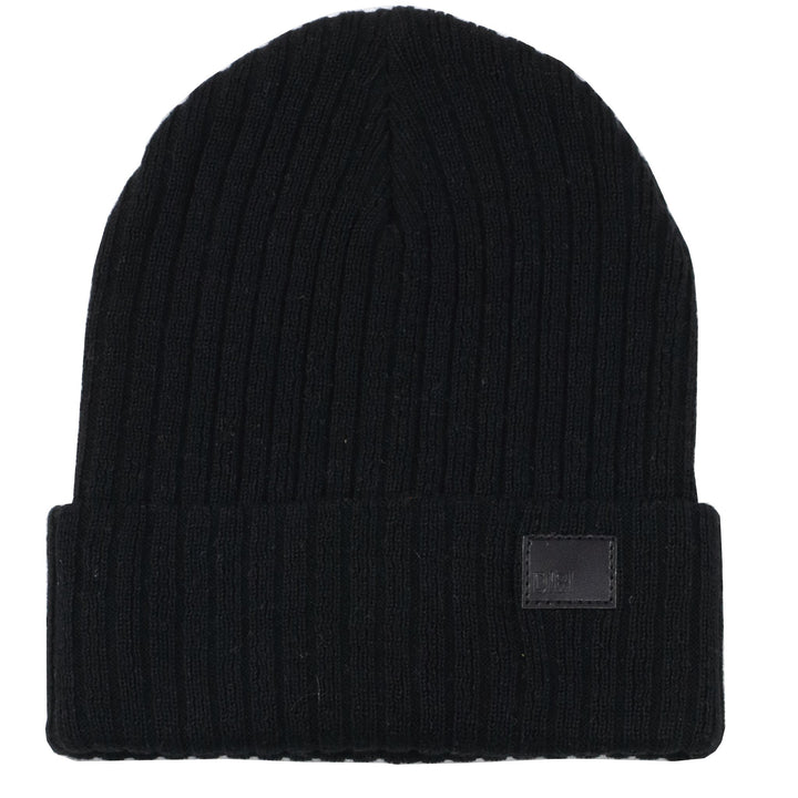 Solid Black Knit Beanie