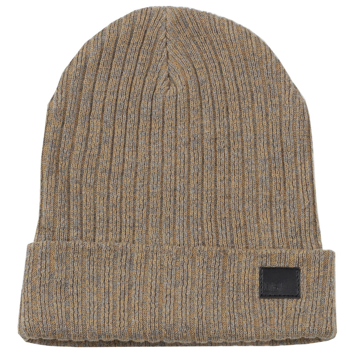 Brown & Charcoal Melange Beanie