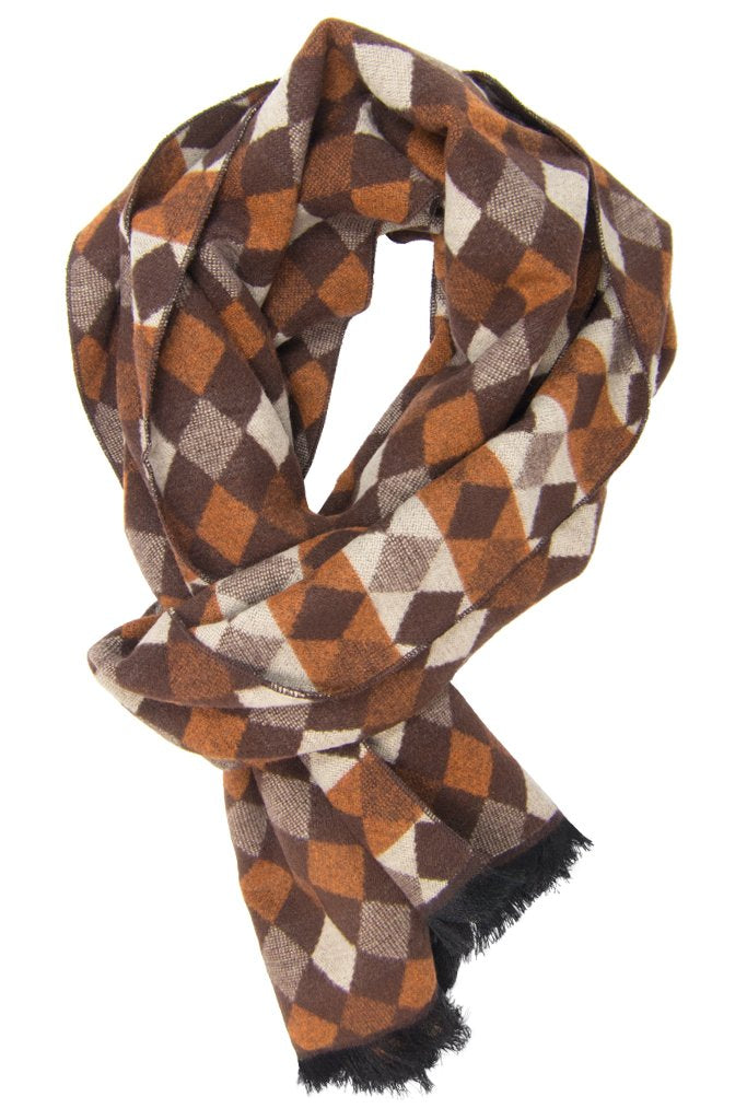 Brown Diamond Scarf