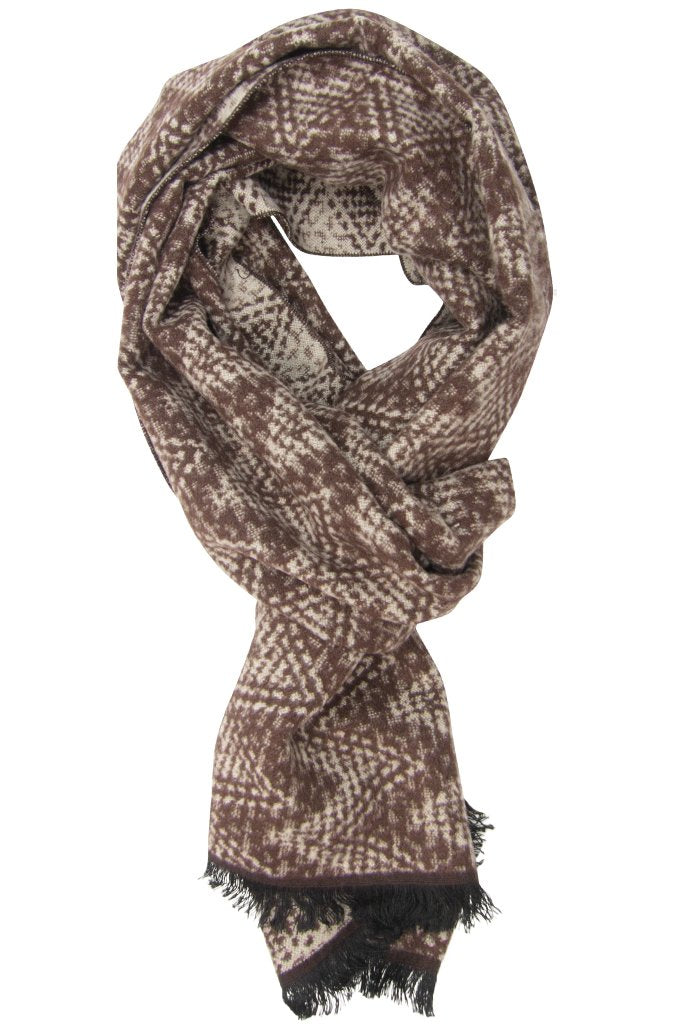 Brown Khaki Ziggy Scarf