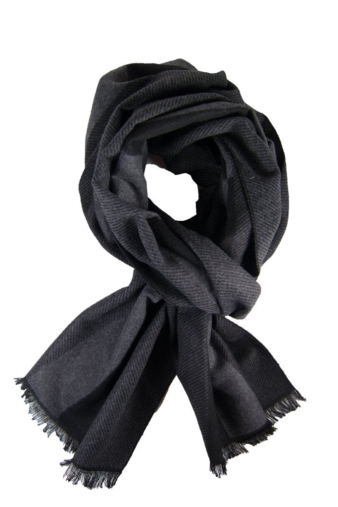 Black & Charcoal Block Scarf