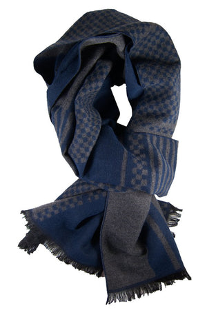 Grey & Blue Scarf