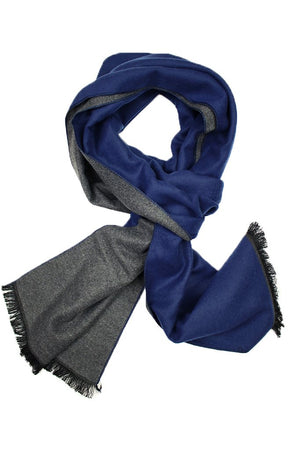 Solid Blue & Grey Scarf