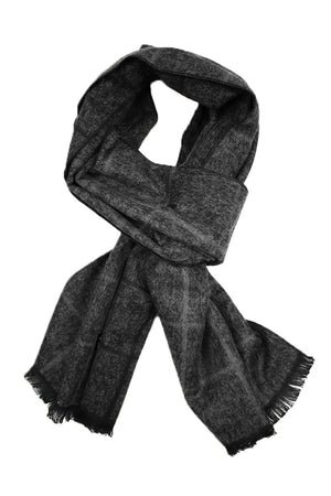 Charcoal Heather Plaid Scarf
