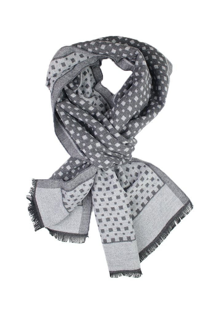 Grey Micro Gingham Scarf from DIBI
