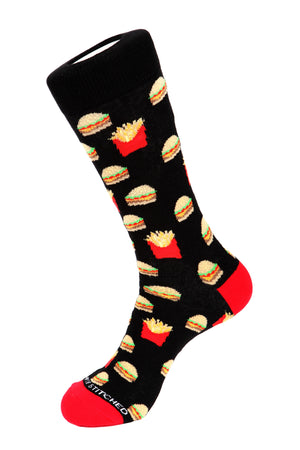 Cheeseburger and Fries Sock