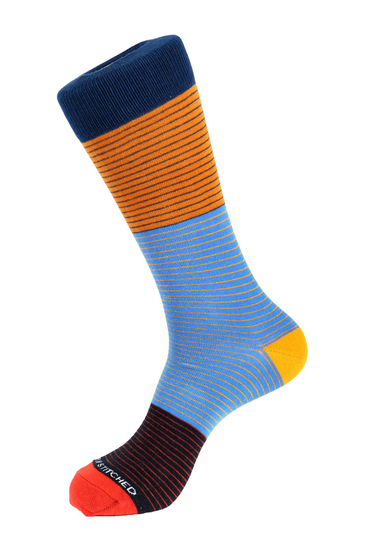Sectioned 3 Stripe Sock