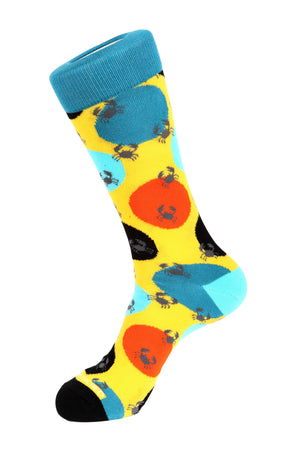crab Polka Dot Sock