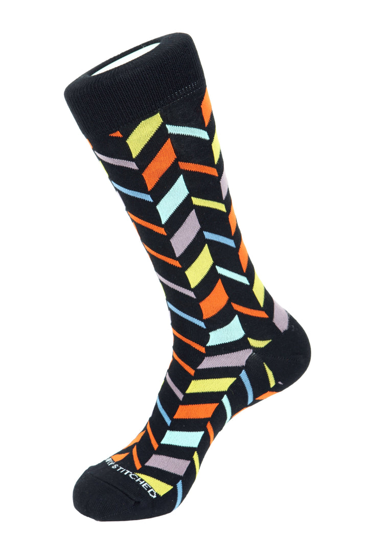 Unsimply Stitched Spit Stripe Crew Sock One Size