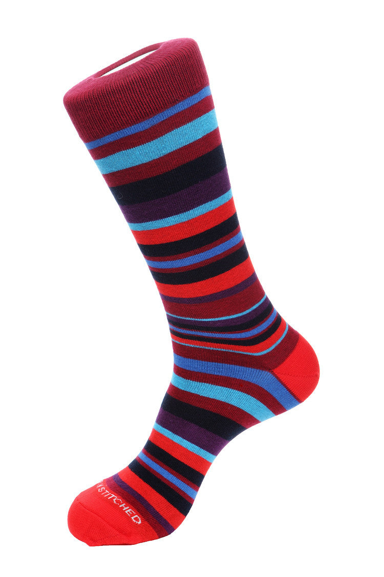Seascape Stripe Sock